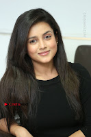 Telugu Actress Mishti Chakraborty Latest Pos in Black Top at Smile Pictures Production No 1 Movie Opening  0197.JPG
