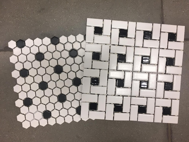 vintage black and white tile