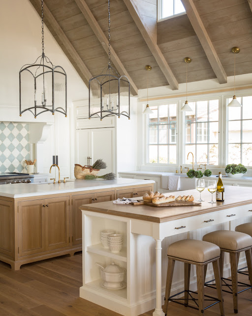 French Country style interior design in beautiful beach house by Giannetti Home - found on Hello Lovely Studio