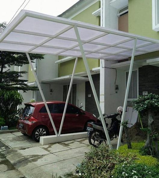 kanopi baja ringan rumah minimalis