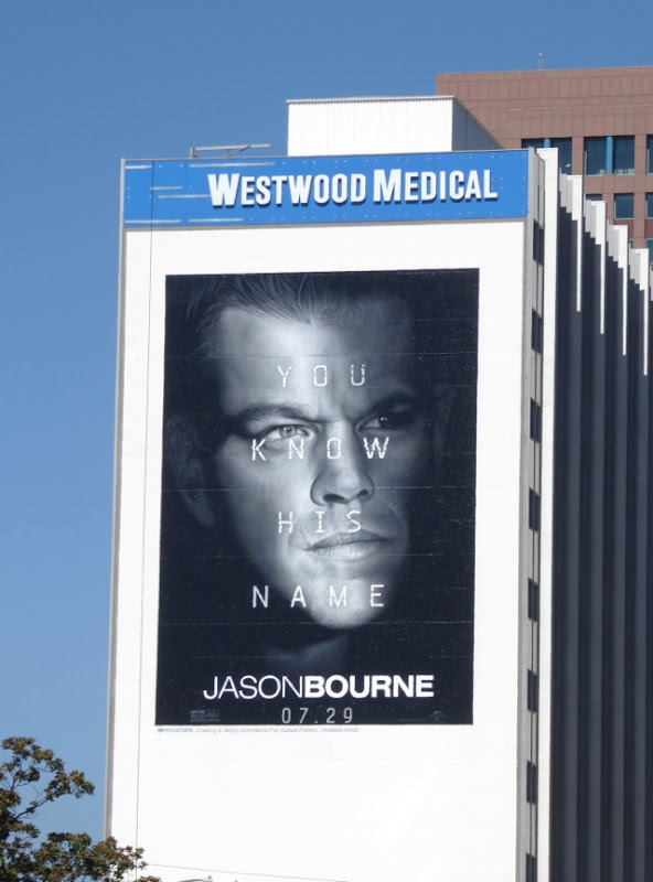 Giant Jason Bourne movie billboard