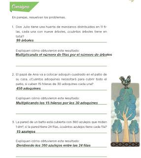 Respuestas Apoyo Primaria Desafíos Matemáticos 4to. Grado Bloque IV Lección 84 ¿Cuántos caben?