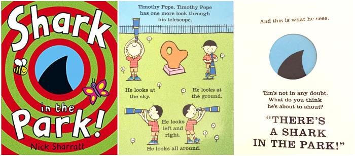 los mejores cuentos y libros infantiles en inglés Shark in the park