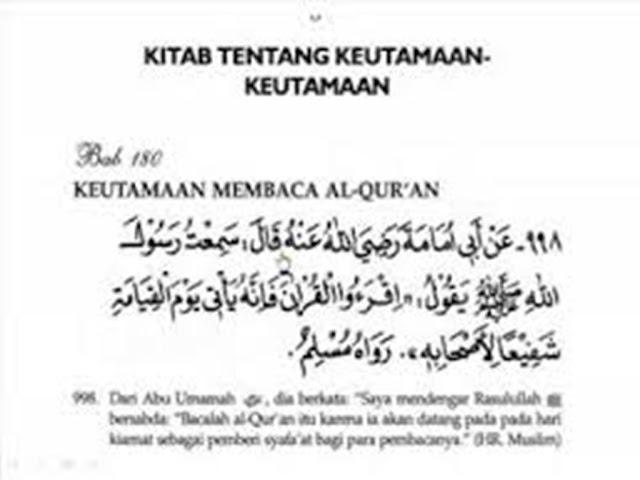 17 Fadhilah Membaca Al Quran Setiap Hari