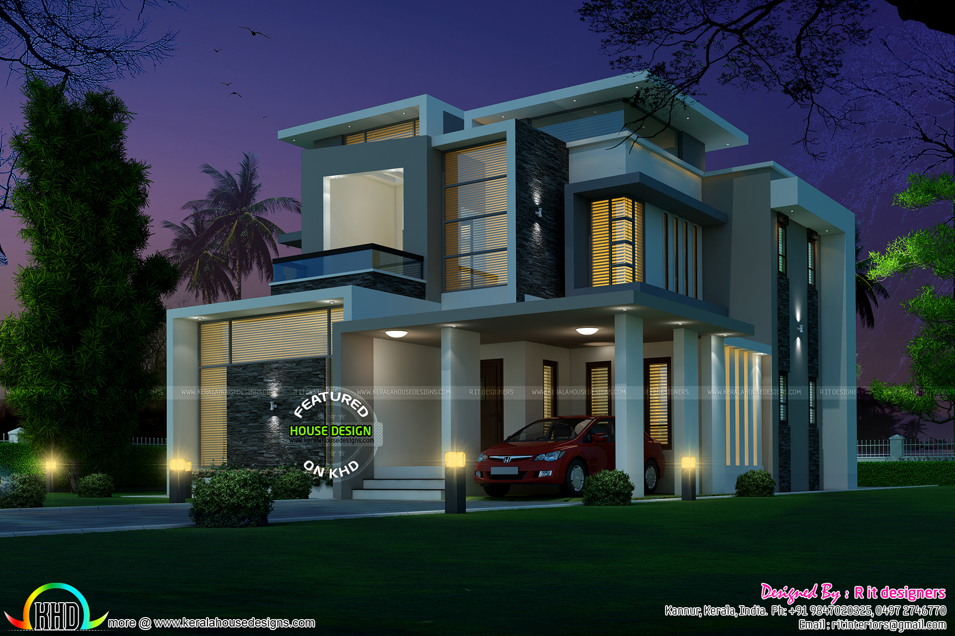 R It Designers (home Design In Kannur) Part - 33: Contemporary Minimalist Villa That Leave You Breathless | House Designs |  Pinterest | Minimalist, Villas And Contemporary