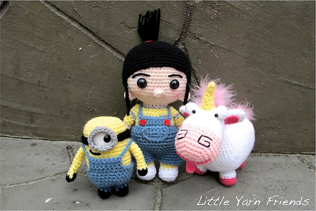 Amigurumi Freely Lil Fluffy Unicorn Minion And Agnes Patterns