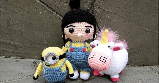 Amigurumi Freely Lil Fluffy Unicorn Minion And Agnes Patterns