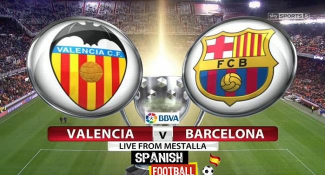 live streaming valencia vs barcelona 27 november 2017