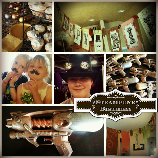 Steampunk Party with Customized Water Guns