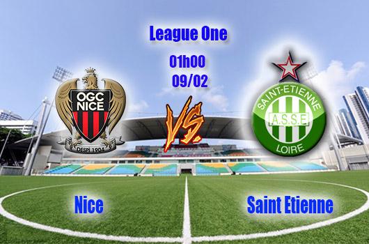 Nhận định bóng đá Nice vs Saint Etienne, 01h00, ngày 09/02