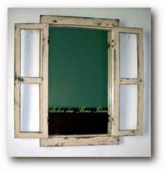 janela velha reciclada