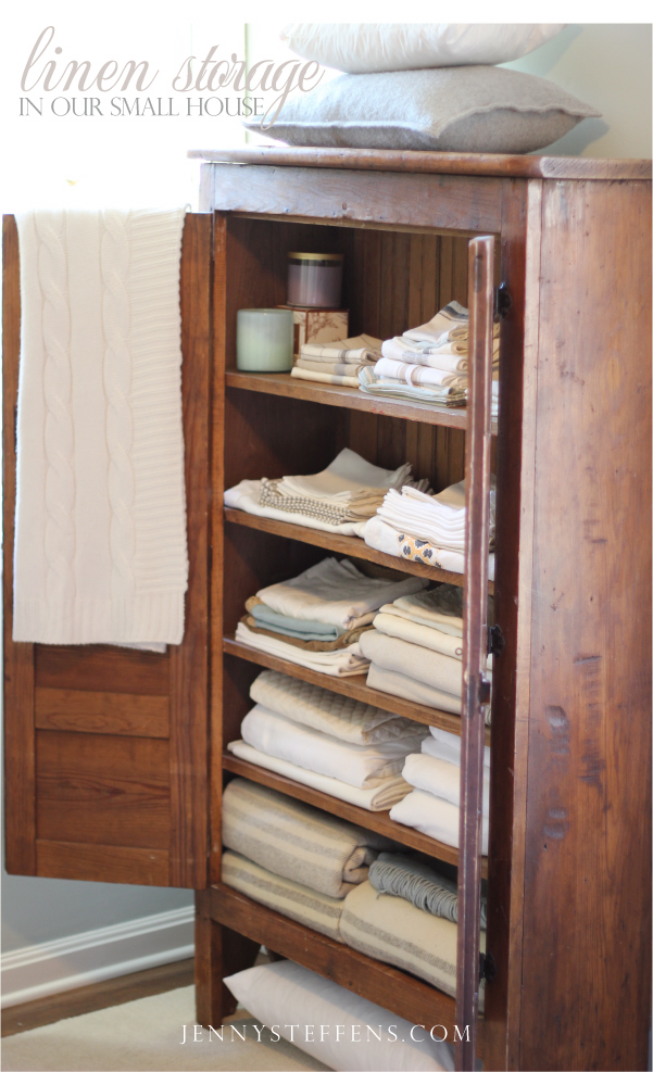 Jenny Steffens Hobick My Linen Quot Closets Quot Creative Linen Storage In Our Small House