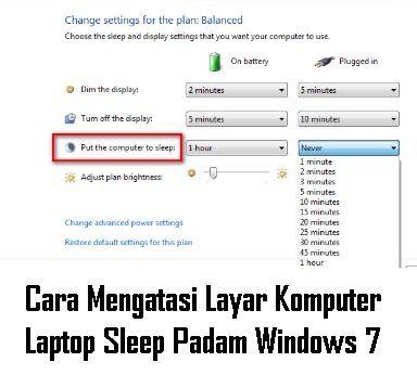 Melakukan pekerjaan tampa adanya gangguan tentunya akan mempercepat pekerjaan kita selesa Cara Mengatasi Layar Komputer Laptop Sleep Padam Windows 7