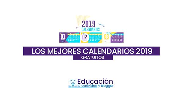 Calendarios 2019 gratis para imprimir ▷ 【PDF, Word, Excel, Vector】