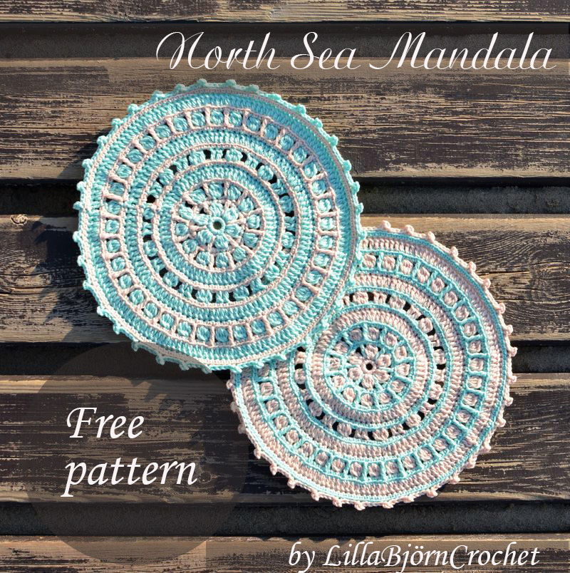 North Sea Mandala Free Pattern LillaBjörn's Crochet World Interesting Free Crochet Mandala Pattern