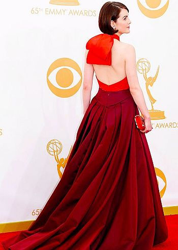 Michelle Dockery in Prada at the 65th Annual Primetime Emmy Awards, 2013