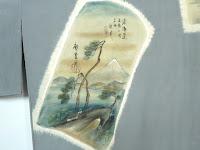 男性用襦袢の柄には浮世絵が多く使われています