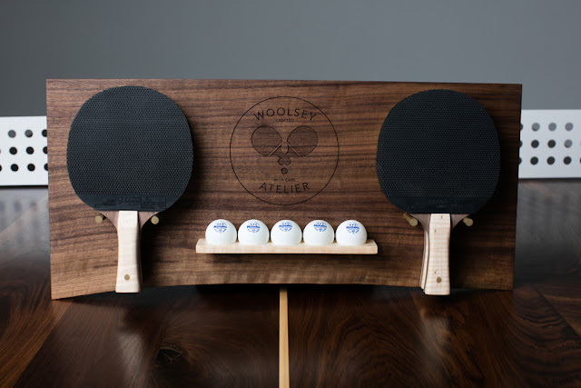 Racchette da ping pong in noce e acero
