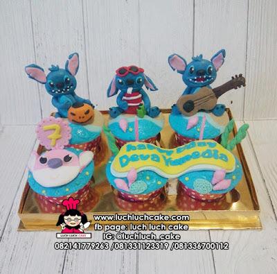 Cupcake Lucu Tema Lilo and Stitch