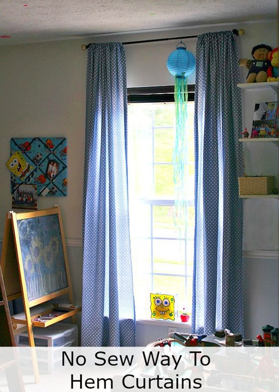 The no sew way to hem curtain panels