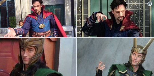 Doctor Strange & Loki at the Disneyland Resort in California