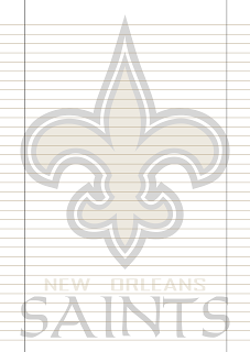 Papel Pautado Orleans Saints PDF para imprimir na folha A4