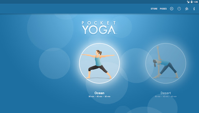 Pocket yoga Ocean workout screenshot.