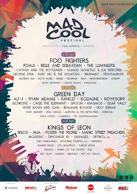 Mad Cool, 2017, cartel, Festival, Music, Madrid
