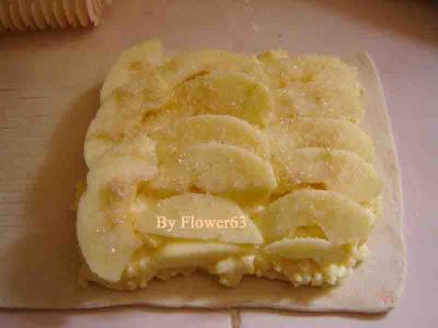 فطيرة التفاح بالكريم باتسيير
