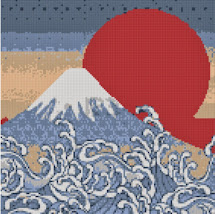 Mother Bee Design Japanese Mountain Cross Stitch Pattern