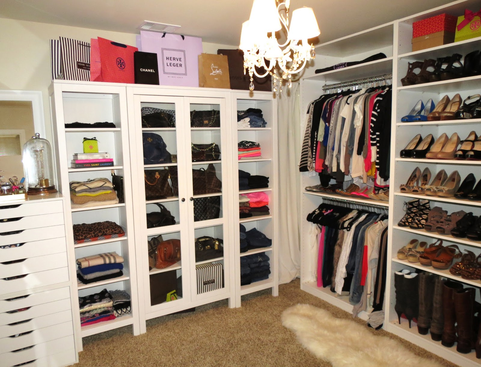 tiffanyd new closet reveal and video tour. Black Bedroom Furniture Sets. Home Design Ideas