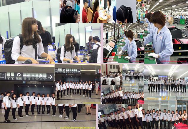 Những đơn hàng đi xkld Nhật Bản xuất cảnh đầu năm 2017