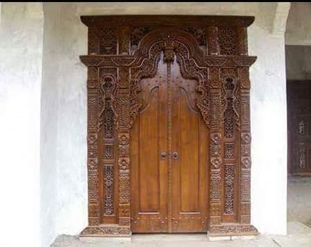 contoh pintu gebyok jati