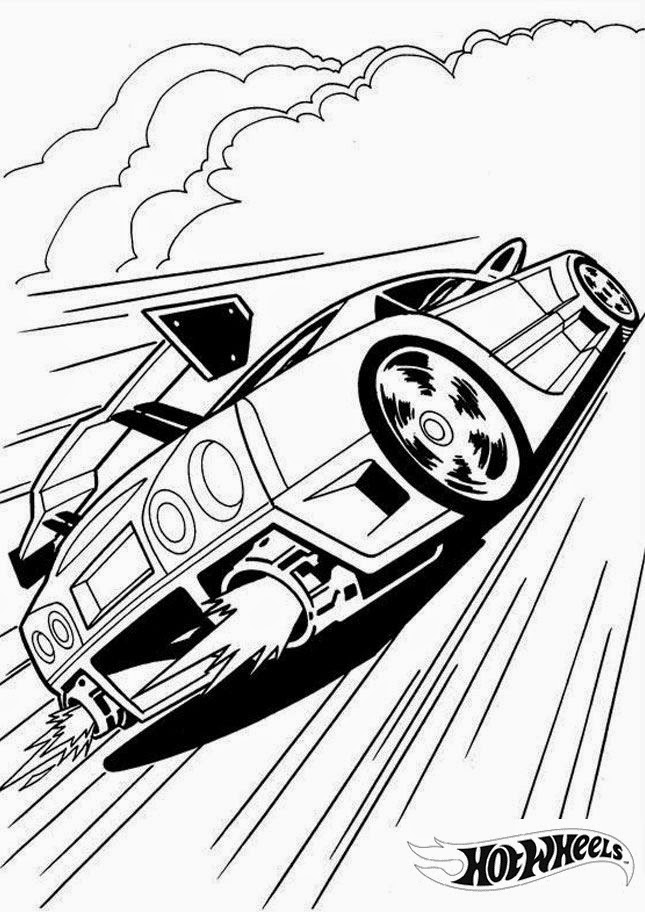 Hot Wheels Coloring Pages 35
