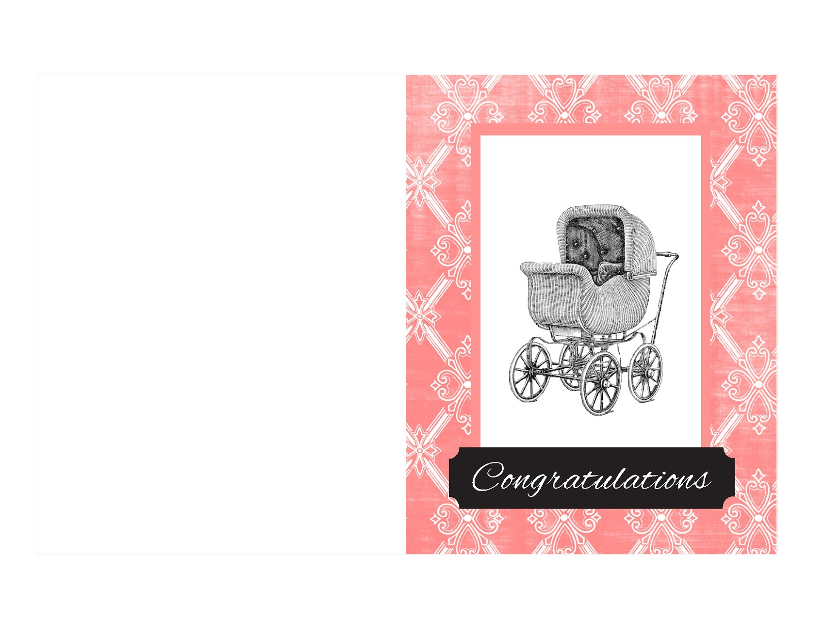 antique images  free printable baby card  vintage baby
