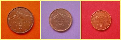 5, 2 y 1 céntimos Eslovaquia