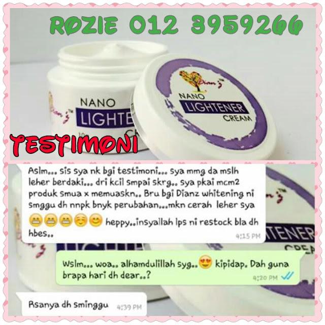 Nano lightener cream dianz pixy