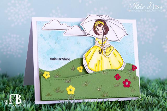 Rain or Shine Slider Card by ilovedoingallthingscrafty