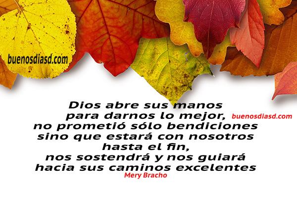 Frases, pensamientos, reflexiones de Buenos días, mensajes para la mañana, tarde, dedicatorias cristianas facebook por Mery Bracho.
