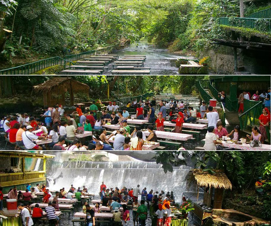 Dine At The Base Of Waterfall In Philippines