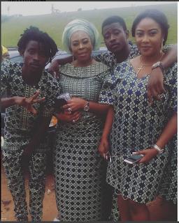 Mayorkun's Mom, Actress Toyin Adewale, Rocks Owambe Ankara Outfit To A Wedding