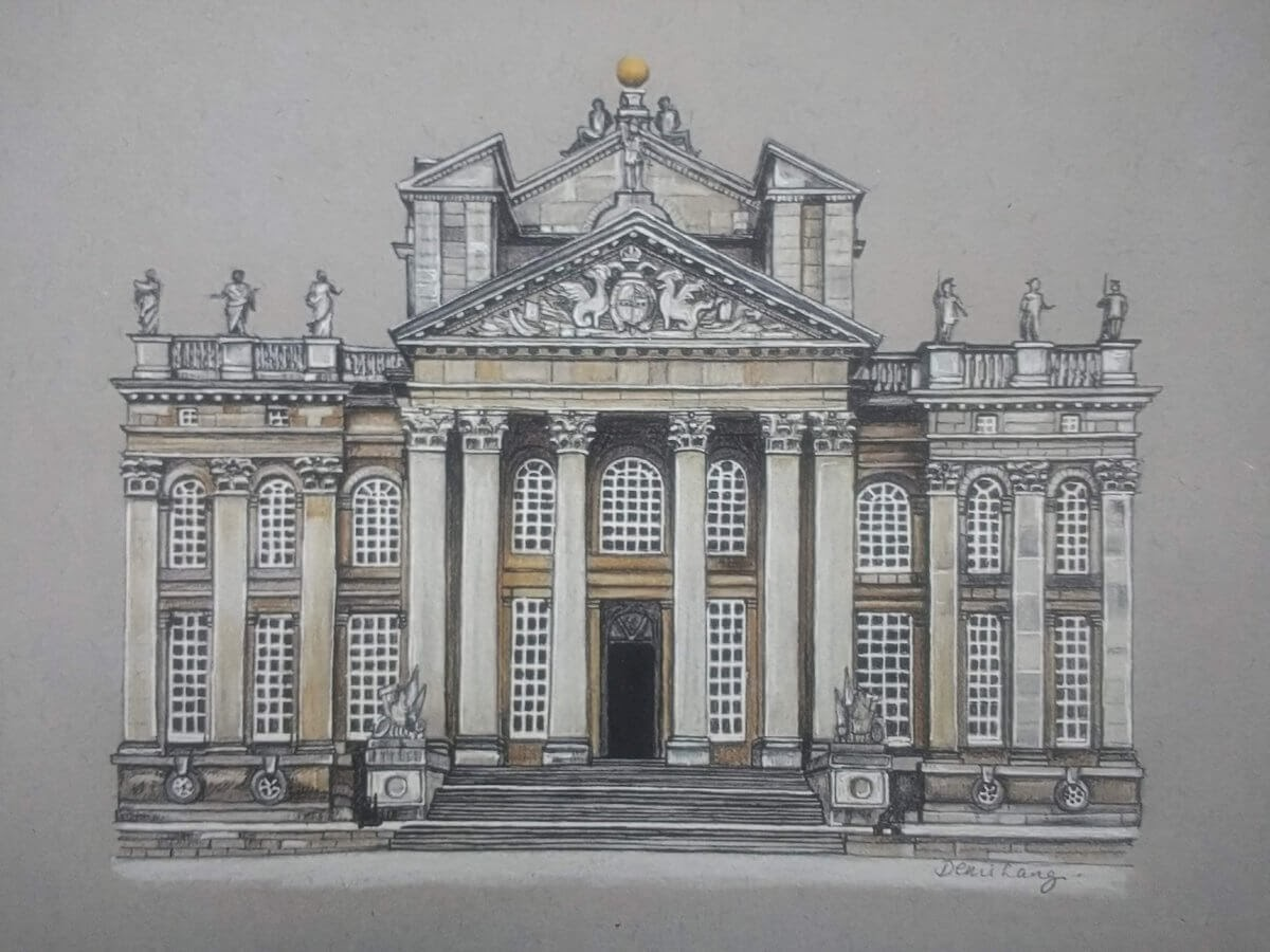 03-Blenheim Palace-Oxfordshire-Demi-Langdoes-Drawings-of-Architectural-Details-and-Buildings-www-designstack-co