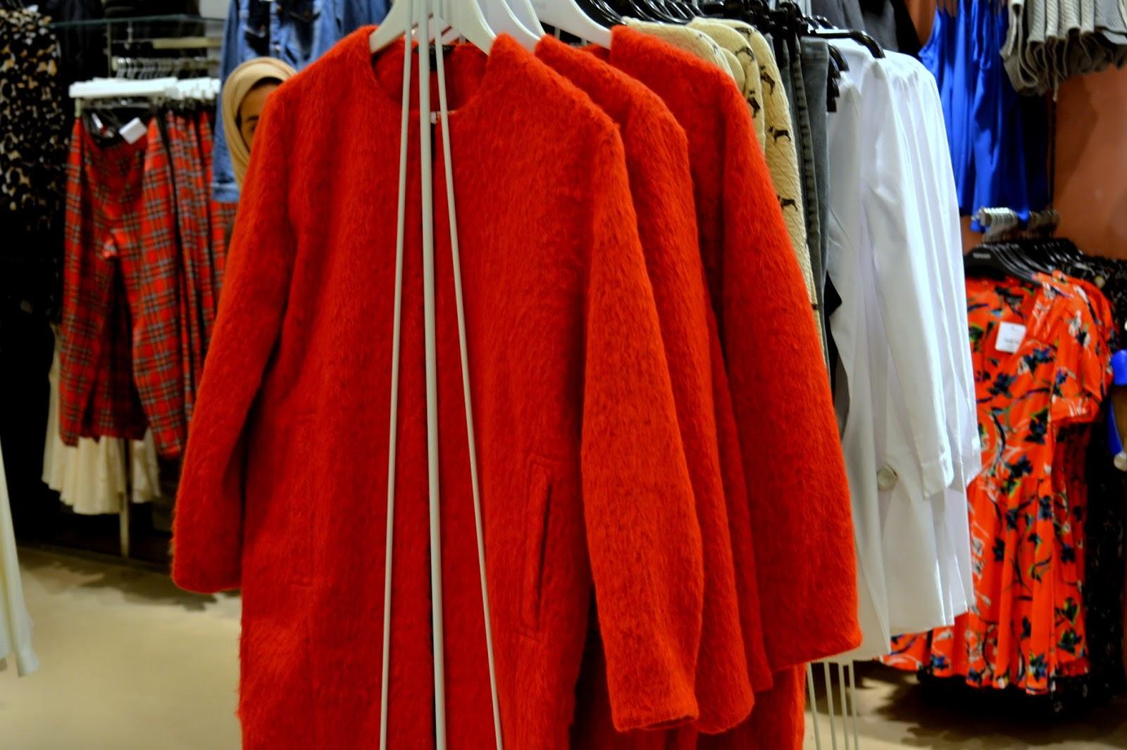 coat topshop rot mantel kadewe berlin