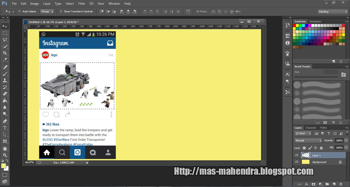 Cara Membuat Out Of Frame di Photoshop CS6 Lengkap Tutorial ... 2726d6cf3e