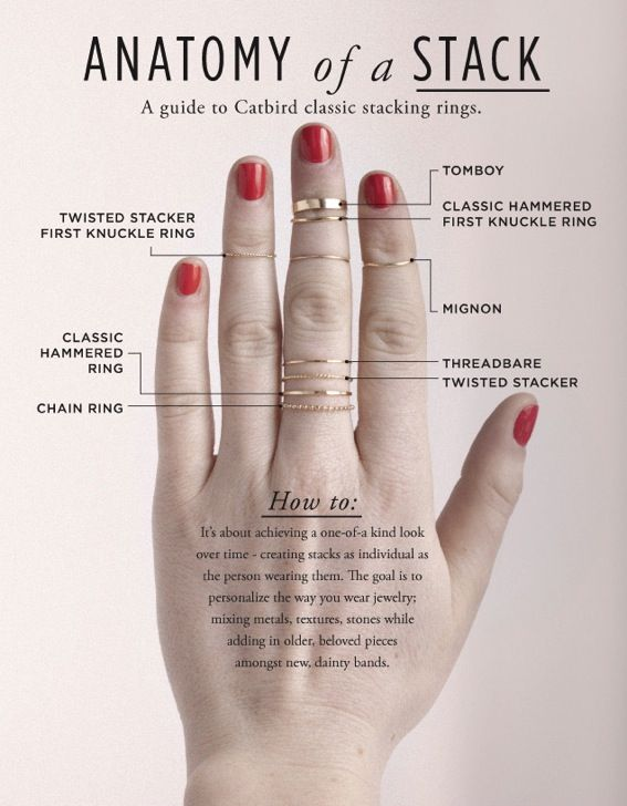 How To Wear Stack Rings