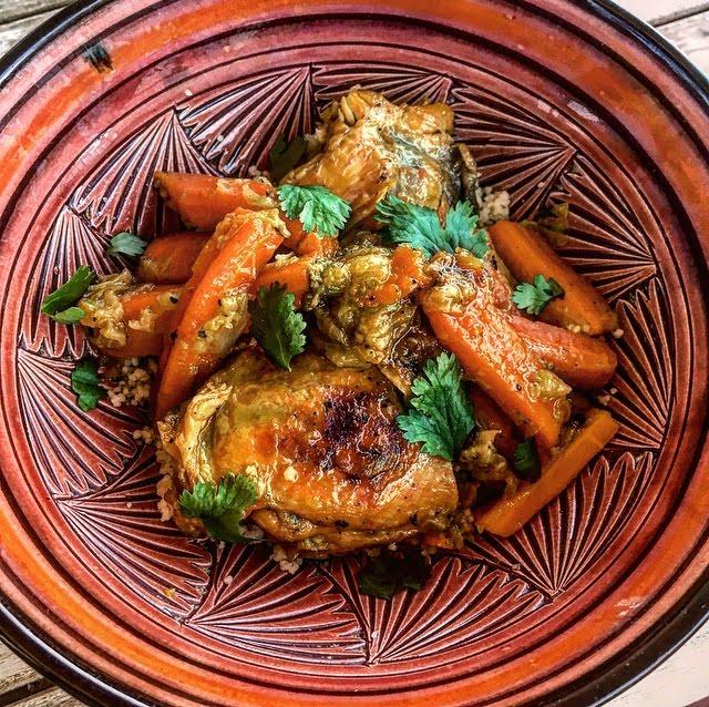 Tajine healthy de poulet carotte et gingembre