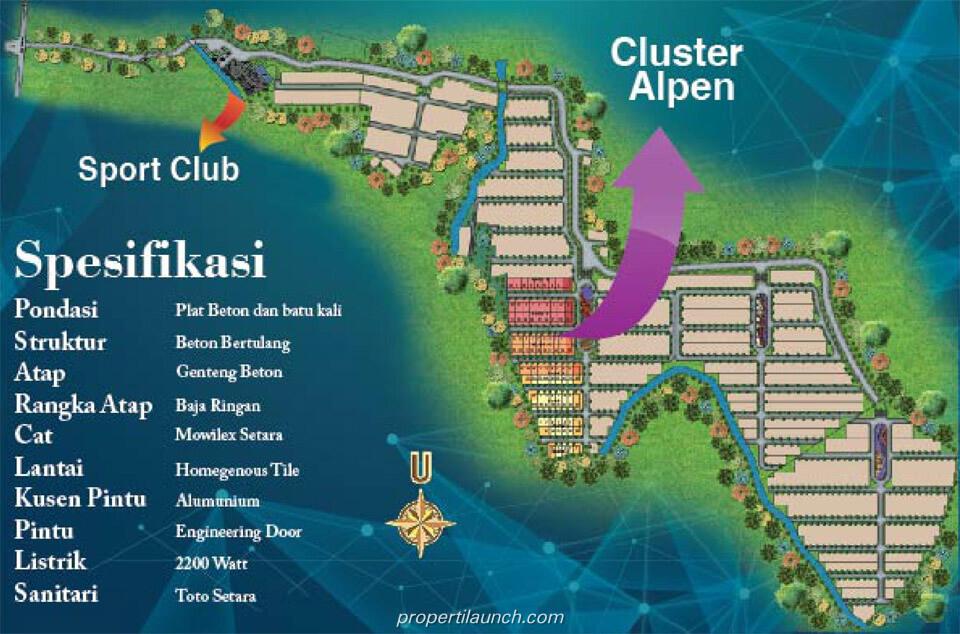 Master Plan Golden Hills Bogor