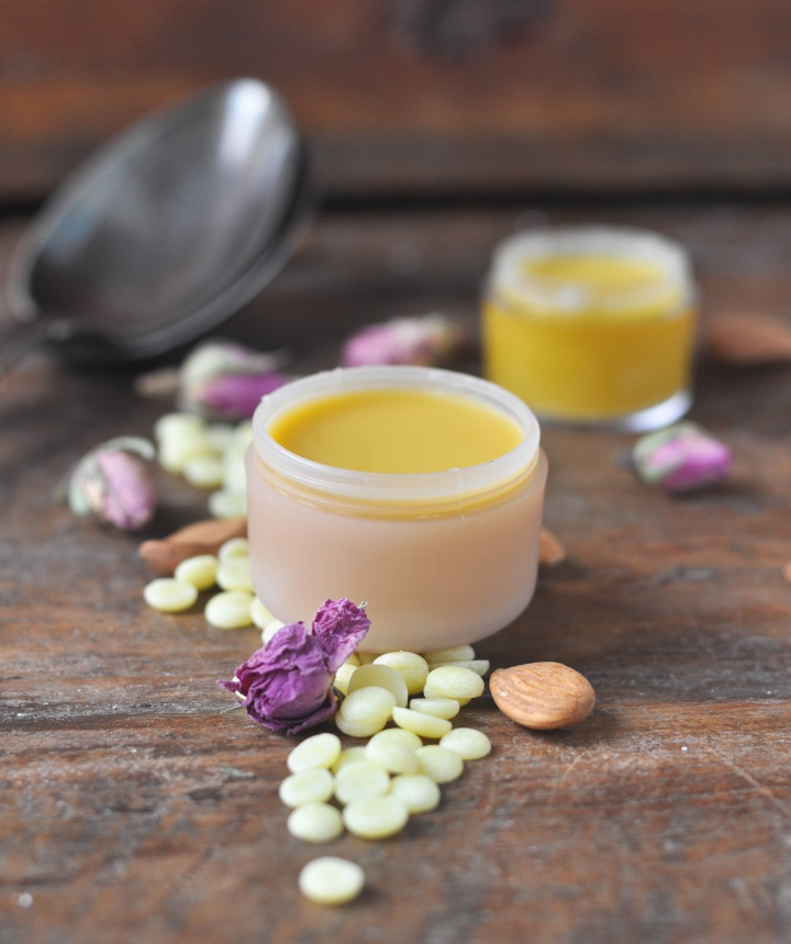 DIY Rose Lip Balm, perfect for dry winter skin