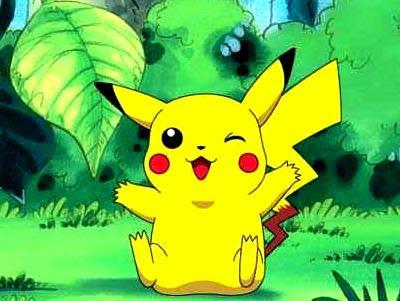 Dibujo de Pikachu en el bosque