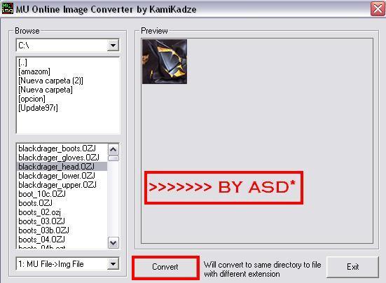 Convirtiendo imagen ozj a jpg